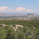 View north to Black Mesa from Lot B